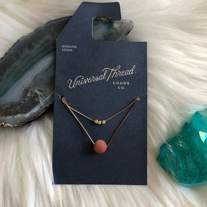 Universal Thread Double Layer Stone Necklace
